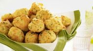 Lead-time: 1 month Storing Method: Freezer We folded lemon zest, snipped chives and Gruyere cheese into our easy choux dough to make these one-bite cheese puffs but you can swap in different mix-ins of your own. Try cheddar and minced jalapeno for a Southwestern twist or maybe Parmesan and minced fresh sage for something more autumnal.  Get the recipe for Herbed Gougeres »