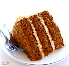 "Vegan Gluten-Free Carrot Cake -- made with a heavenly (vegan) ""cream cheese"" frosting 