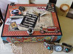 Scrapbook Flair: Father's Day Keepsake Box with Xyron