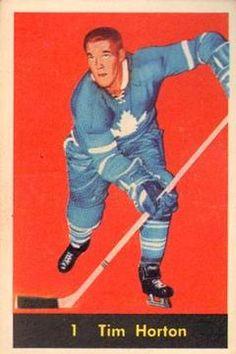 1960-61 Parkhurst #1 Tim Horton Front