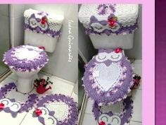 Eloiza marques sousa garcia shared a video Crochet Owls, Crochet Stitches Patterns, Crochet Home, Crochet Doilies, Free Crochet, Stitch Patterns, Knit Crochet, Owl Rug, Crochet Decoration