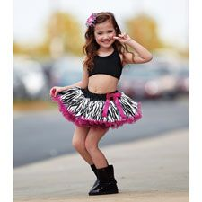 Show off your wild side in this fun zebra printed skirt by Little Stars. My little dancers would love this!!