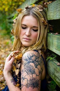 jungle flower tattoo