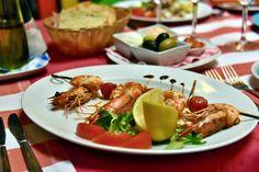 Krevety grilované /  Grilled tiger shrimps