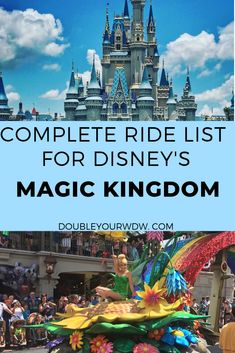 Get a complete ride list for Walt Disney World s Magic Kingdom Park. Find out what rides you can go on and what the height requirement for each ride is so you know if your kids can ride at this park. Plan your best Disney vacation ever with this ride info Disney World Resorts, Disney World Rides List, Disney World Tipps, Disney World Christmas, Disney World Parks, Disney World Tips And Tricks, Disney Tips, Disney Vacations, Disney Travel