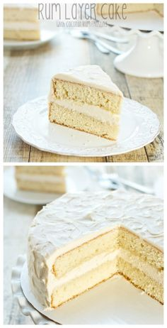 This Rum Layer Cake Recipe with Coconut Rum Frosting is out of this world amazing! Soft, moist double layer cake filled with a delicious coconut frosting. Pudding Desserts, Dessert Recipes, Coconut Rum, Coconut Recipes, Coconut Cakes, Coconut Frosting, Layer Cake Recipes, Layer Cakes, Rum Cake