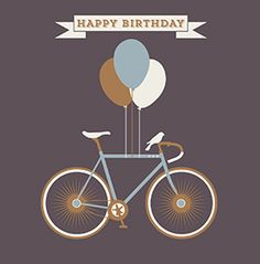 HIP - Vintage Cycle & Birthday Balloons