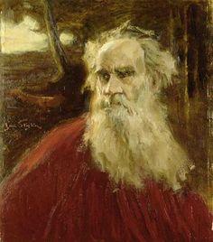 Lev Nikolaïevitch Tolstoï peint par Jan Styka.