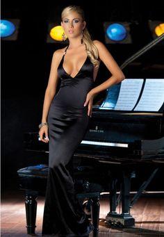 Elegance Long Dress Black