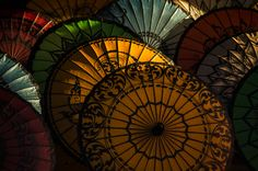 Umbrellas of Bagan, Burma