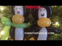 How To Twist A Cute Penguin! (3 Balloons) Tutorial - YouTube