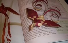Woven Bird Tutorial...these are made of paper, but when I was in Middle School, I made these from Ribbon.
