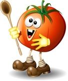 Vettoriale: Pomodoro Cartoon-Tomato-Vector