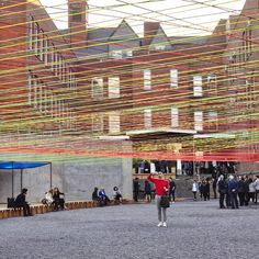 Mexican studio Escobedo Soliz has installed a web of brightly hued rope at the MoMA PS1 gallery in Queens, New York.