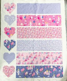 Today, I am excited to share a new, free, baby quilt pattern- Baby Love! This quilt pattern is super fast and super fun. Quilt Patterns Free, Baby Patterns, Free Pattern, Baby Girl Quilts, Girls Quilts, How To Sew Baby Blanket, Cot Quilt, Easy Quilts, Baby Sewing