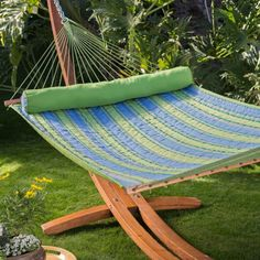 island bay parrot stripe dura weave quilted hammock with 15 ft  russian pine wood algoma 15ft russian pine wood arc hammock stand   hammock stands      rh   pinterest