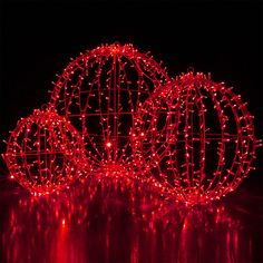 Red LED Hanging Light Sphere for holidays, parties and events!