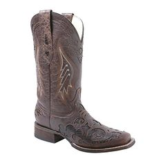 Corral Women's A2404 Snake Inlay Brown Fashion Boots 7.5 M * See this great product.