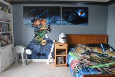 Star Wars Room Design Ideas - Check out the best Star Wars rooms for 2018! We collected the most inspiring and creative room decorations for Star Wars fans. #starwars #starwarsroom #starwarsroomideas #starwarsdesign #starwarsideas