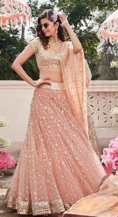 30 Glimmering Mirror Work Lehengas that will Satisfy your Blingy Soul! 30 Glimmering Mirror Work Lehengas that will Satisfy your Blingy Soul! Indian Gowns Dresses, Indian Fashion Dresses, Dress Indian Style, Indian Designer Outfits, Indian Wedding Dresses, Indian Designers, Gown Wedding, Lace Wedding, Fashion Outfits