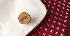 Mustache Wood Cuff Links - Movember