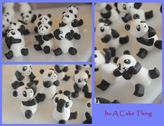 Sugar panda toppers by Its A Cake Thing (Jho), via Flickr