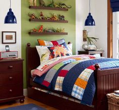 Little Boy Bedroom Ideas how gorgeous is this little boy's room! #kidsroom #rugs