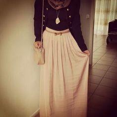 hijab. hijabi fashion. maxi skirt