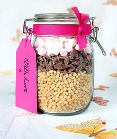 Puffreis-Schoko-Riegel mit Marshmallows