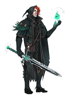 Male Human Magus - Pathfinder PFRPG DND D&D 3.5 5th ed d20 fantasy