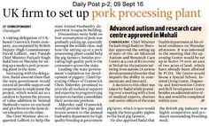 Punjab govt taking form steps in healthcare and food processing industry Daily Post India #AkaliDalinNews
