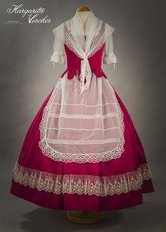 Margarita Vercher Folk Costume, Costumes, Thomas Sabo, Medieval, Barbie, Wattpad, Victorian, Floral, Clothes
