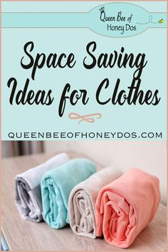 Maria Kondo and beyond! Great ideas to get the most clothes storage from the space that you have. #diy #housekeeping #storage #organize #queenbeeofhoneydos