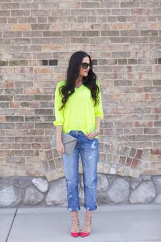 Pink Peonies blogger Rachel Parcell shows you how to brighten up your look with neon.