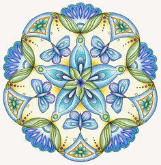 Mandala tekenen ~ Graancirkel Mandala 100