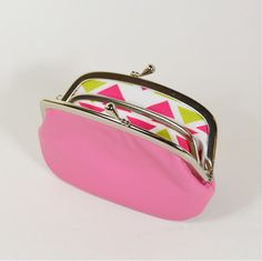 Women's Leather Wallet with Divider Pink by fieldofroses on Etsy