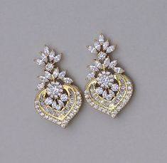 Gold Kristall Ohrringe goldene Braut Ohrringe von JamJewels1