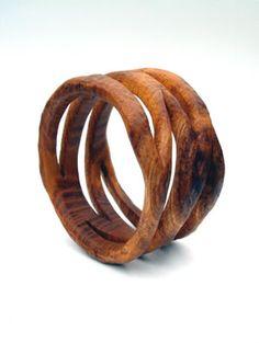 Bangles - hand carved wooden bangles