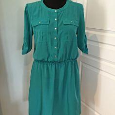 Worn once. Shirt Dress by Chetta B Perfect condition Chetta B Dresses Midi