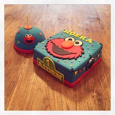 Elmo koekiemonster Sesamstraat taart