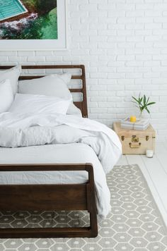 Parachute Linen in White. $440 for the fitted sheet, duvet cover, two pillow cases and two shams.