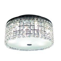 BAZZ Glam Cobalt 3-Light Brushed Chrome Ceiling Light-PL3413CC at The Home Depot