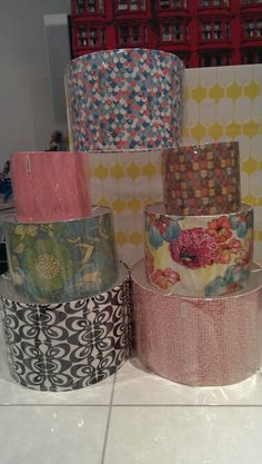 Lampshades made by chloe & me, one cold and wintery day