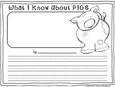 Writing about Pigs by First Grade Schoolhouse. Writing printables about pigs. Includes non-fiction writing. FREE DOWNLOAD!