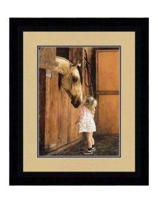 Girl Visiting Horse Photo - 16