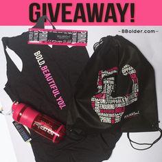 --- WIN! ---<br>- Teeny Tank<br />  The Bolder Band Headband<br />  Pink Blender Bottle<br />  Bolder Bag<br />  ($80 Value!)
