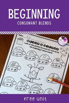 Are you looking for some fun phonics worksheets to use during the month of December? This beginning consonant blend free unit should end your looking! There are 4 worksheets for your students to complete. They are fun and perfect for a first grade student