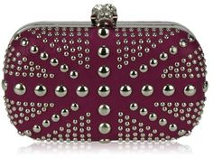 Womens Purple Union Jack Box Studs Skull Clutch Evening Bag - KCMODE ... Know the Girl, Know the Gift.
