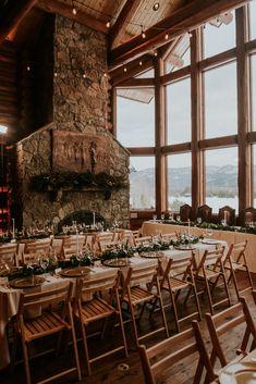 Lake Wedding Venues, Winter Wedding Receptions, Winter Wedding Decorations, Colorado Wedding Venues, Lodge Wedding, Decor Wedding, Reception Ideas, Lake Wedding Ideas, Lake Wedding Decorations