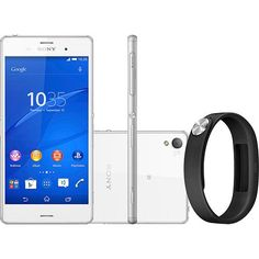 Smartphone Sony Xperia Z3 Desbloqueado Android 4.4 Tela 5.2 16GB 4GWi-Fi Câmera 20.7MP - Branco + Pulseira SmartBand